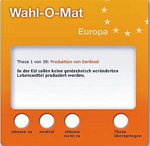 Wahl-o-mat Europawahl 2009