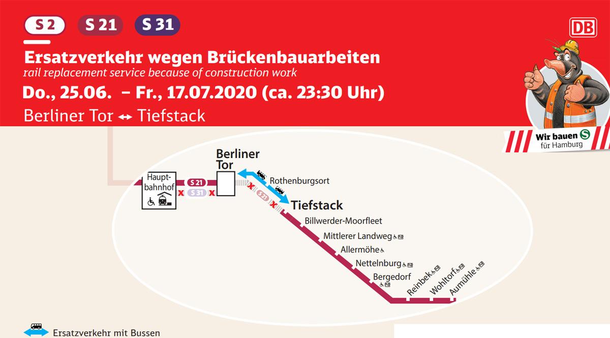 S21 Bauarbeiten - Busse statt S-Bahnen