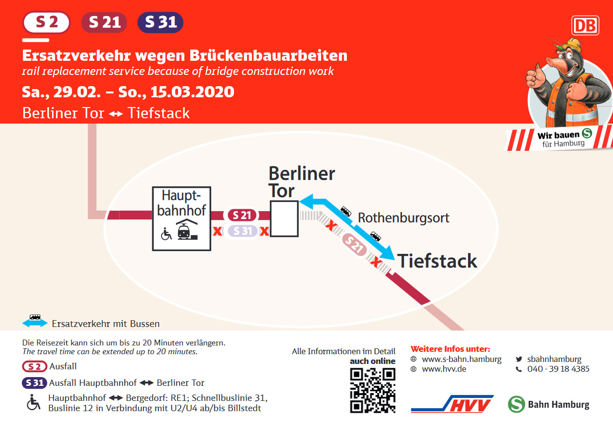 S21 Baustelle - Busse statt S-Bahnen
