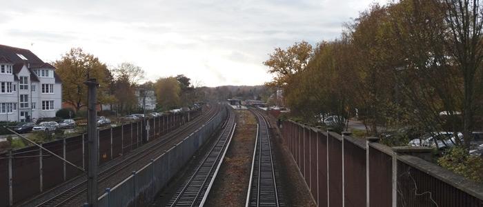 S-Bahn Gleis Reinbek Bahnhof
