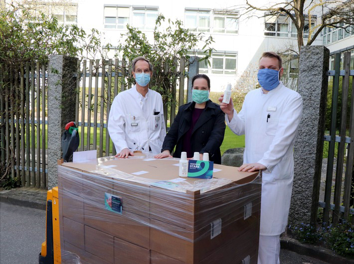 Pharmaunternehmen aus Reinbek spendet Desinfektionsmittel