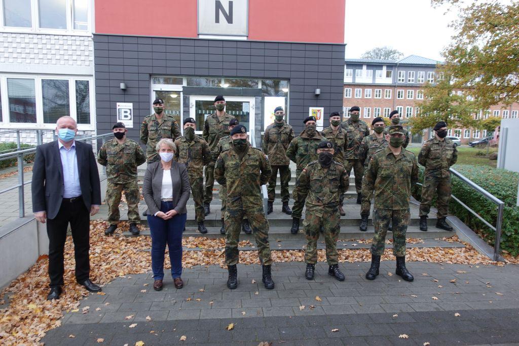 Bundeswehr hilft Gesundheitsamt Kreis Stormarn